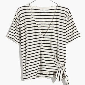 NWT Madewell Texture & Thread Short-Sleeve Wrap To